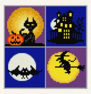 cross stitch pattern Small Halloween Designs - 2