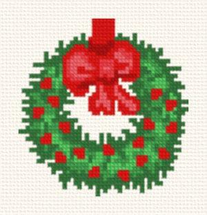 cross stitch pattern Wreath