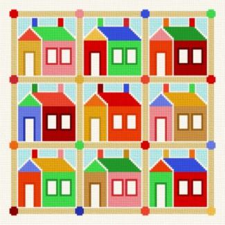 cross stitch pattern School House Quilt - 2