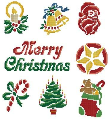 cross stitch pattern Christmas Motifs 4