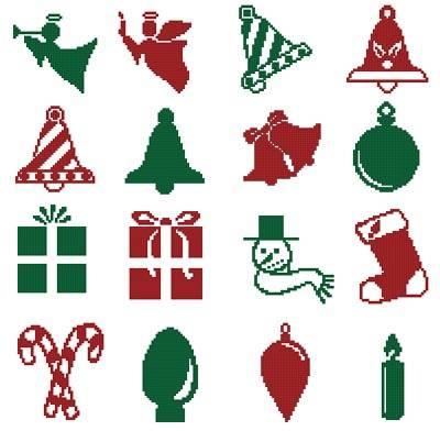 cross stitch pattern Christmas Motifs 6