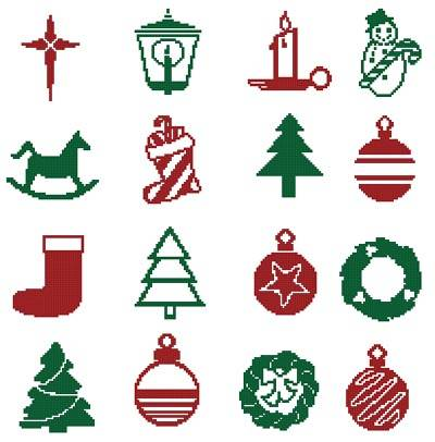 cross stitch pattern Christmas Motifs 5