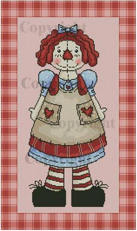 cross stitch pattern Country Annie