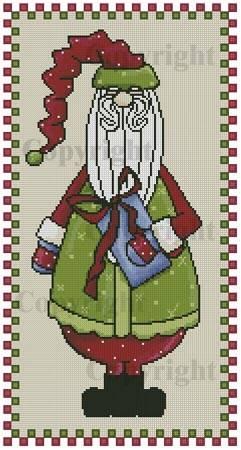 cross stitch pattern Country Santa