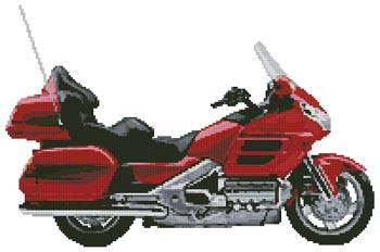 cross stitch pattern Honda Goldwing Motorcycle