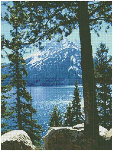 cross stitch pattern Jenny Lake