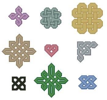 cross stitch pattern Little Celtic Patterns