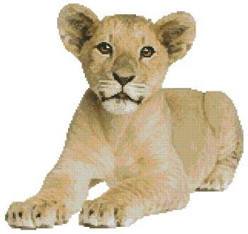 cross stitch pattern Lion Cub 2