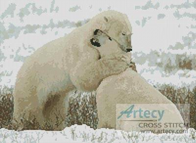 cross stitch pattern Polar Bear Hug