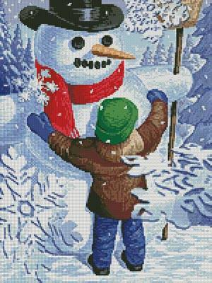 cross stitch pattern Snow Hug