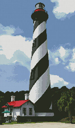 cross stitch pattern St Augustine Lighthouse