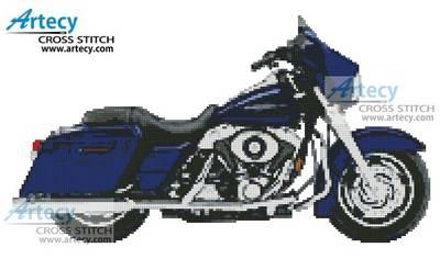 cross stitch pattern 2006 Harley Davidson Street Glide