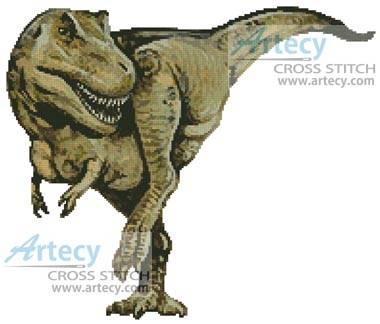 cross stitch pattern T-Rex