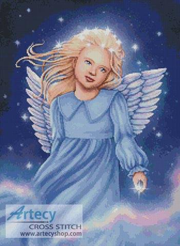 cross stitch pattern Angel of the Air and Heavens