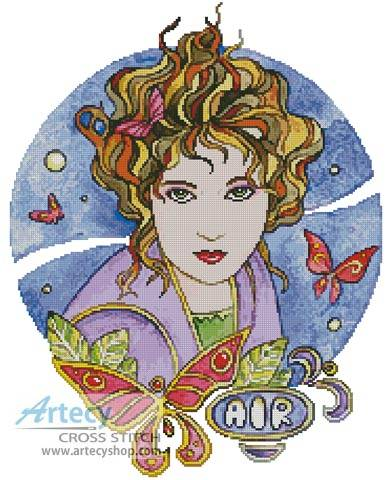 cross stitch pattern Air