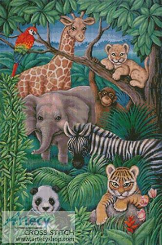 cross stitch pattern Animal Kingdom