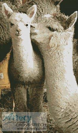 cross stitch pattern Alpacas