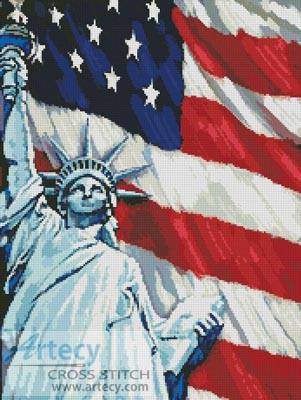 cross stitch pattern America