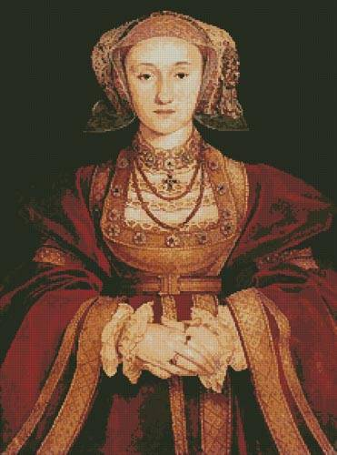 cross stitch pattern Anne of Cleves