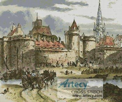 cross stitch pattern Antique Castle