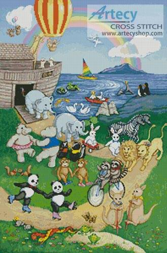 cross stitch pattern Ark Animals