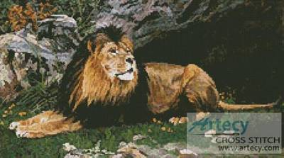 cross stitch pattern A Barbary Lion