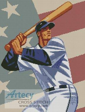 cross stitch pattern Baseball 3