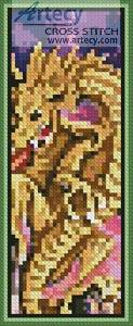 cross stitch pattern Dragon Battle Bookmark