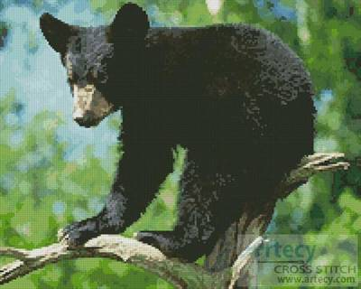 cross stitch pattern Black Bear Cub