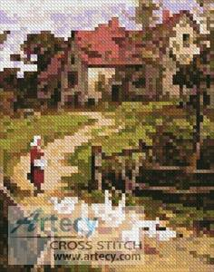 cross stitch pattern Mini Berkshire Homestead