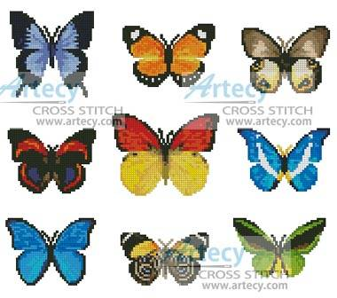 cross stitch pattern Butterfly Sampler