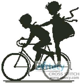 cross stitch pattern Bike