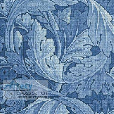 cross stitch pattern Blue Acanthus