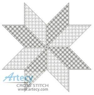 cross stitch pattern Blackwork Star