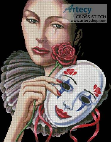 cross stitch pattern Behind the Mask