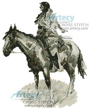 cross stitch pattern A Breed - Sepia