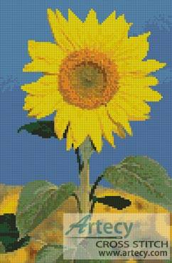 cross stitch pattern Bright Sunflower