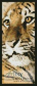 cross stitch pattern Bengal Tiger Cub Bookmark