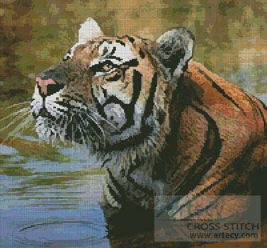cross stitch pattern Bengal Tiger