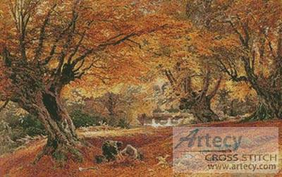 cross stitch pattern Burnham Beeches