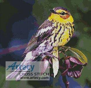 cross stitch pattern Cape May Warbler