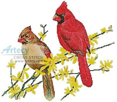 cross stitch pattern Cardinals