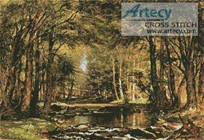 cross stitch pattern A Catskill Brook