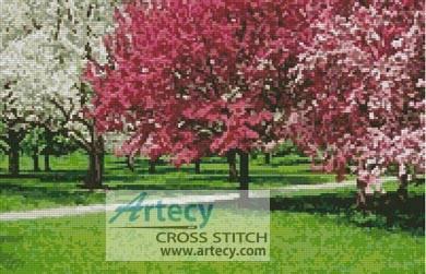 cross stitch pattern Cherry Blossoms