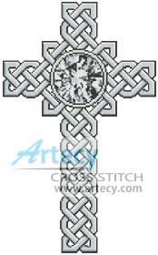 cross stitch pattern Celtic Cross April - Diamond