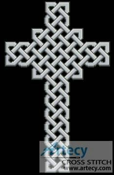 cross stitch pattern Celtic Cross