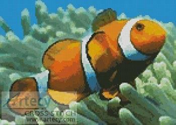 cross stitch pattern Clownfish