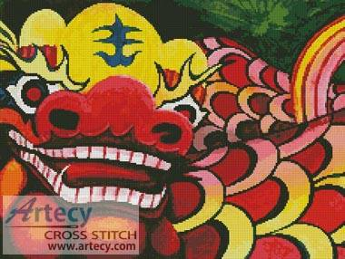 cross stitch pattern Chinese Dragon