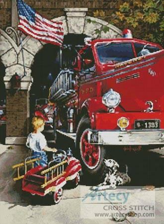 cross stitch pattern Childhood Dreams - USA