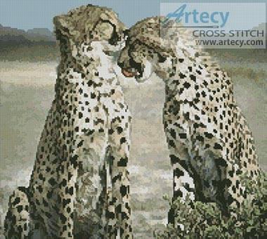 cross stitch pattern Cheetahs